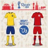 Futbolowy światowy Russia 2018 dopasowanie Obrazy Stock