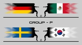 2018 Futbolowych kraj grupy †'F royalty ilustracja