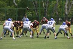 Futbolu Amerykańskiego dopasowanie Między wilkami I Błękitnym smokiem Zdjęcia Stock