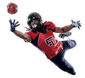 Futbolu amerykańskiego gracza mężczyzna odizolowywający Zdjęcie Royalty Free