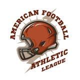 Futbolu amerykańskiego hełma emblemat Fotografia Royalty Free