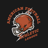 Futbolu amerykańskiego hełma emblemat Zdjęcia Royalty Free