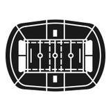 Futbolu amerykańskiego stadium ikona, prosty styl ilustracji