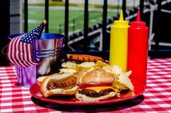 Futbolu Amerykańskiego Tailgating posiłek Obrazy Royalty Free