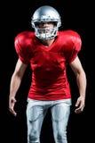 Futbolu amerykańskiego gracza pozycja w pozyci Fotografia Stock