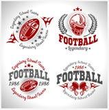 Futbolu amerykańskiego rocznika wektoru etykietki dla plakata Zdjęcie Royalty Free