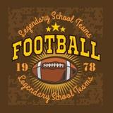 Futbolu amerykańskiego rocznika wektoru etykietki dla plakata Obrazy Stock