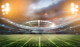 Futbolu amerykańskiego stadium 3D ilustracji