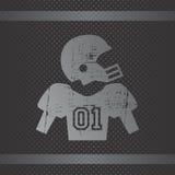 Futbolu amerykańskiego temat Obraz Stock