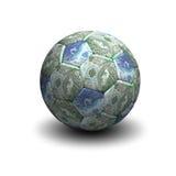 Futbolu i połysku złoty Zdjęcie Stock