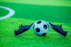 Futbolu i sportów buty Zdjęcie Royalty Free