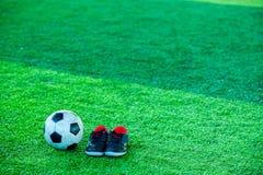 Futbolu i sportów buty Obraz Stock