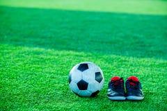 Futbolu i sportów buty Fotografia Stock