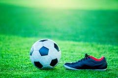 Futbolu i sporta buty Zdjęcia Stock