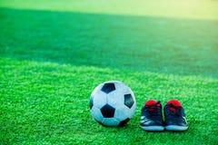 Futbolu i sporta buty Fotografia Royalty Free