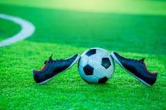 Futbolu i sporta buty Zdjęcie Stock
