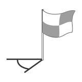 Futbolu kąta flaga Zdjęcia Royalty Free