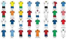 Futbolu mundur Fotografia Stock
