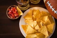 Futbolu partyjny jedzenie, super bowl dzień Obraz Stock