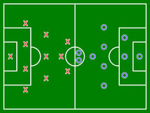 Futbolu (piłka nożna) pole diagram Fotografia Stock