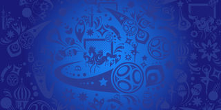 Futbolu Rosja 2018 puchar świata Obrazy Royalty Free