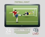 Futbolu wyemitowany szablon Fotografia Stock