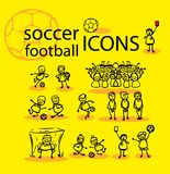 Futebol, ícones do futebol ajustados Foto de Stock