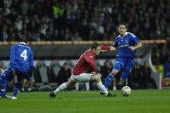 Futebol 2009 o melhor 30Players de France - Wayne Rooney Imagens de Stock Royalty Free