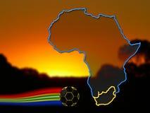 Futebol 2010 de África do Sul Fotografia de Stock Royalty Free