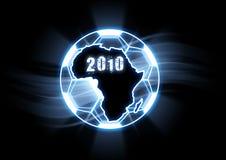Futebol 2010 do copo de mundo ilustração do vetor