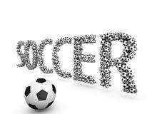 Futebol 3D Foto de Stock Royalty Free