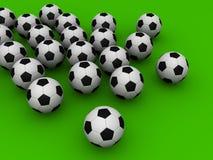 futebol 3d Imagens de Stock Royalty Free