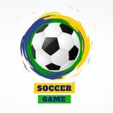 Futebol abstrato do estilo do grunge ilustração do vetor