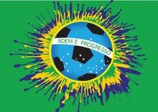 Futebol abstrato do fundo da ilustração Fotografia de Stock