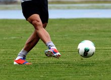Futebol acton Foto de Stock Royalty Free