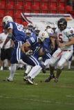 Futebol americano - ataque ofensivo Fotografia de Stock