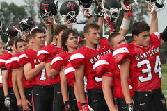 Futebol americano de High School Fotografia de Stock Royalty Free