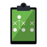 Futebol americano do diagrama tático da placa ilustração stock