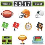 Futebol americano do vetor/jogo ícone do gridiron. Parte Fotos de Stock