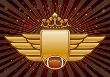 futebol americano e protetor Fotografia de Stock Royalty Free