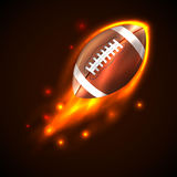 Futebol americano no fogo Vetor Fotografia de Stock Royalty Free