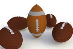 Futebol americano no fundo branco Fotografia de Stock