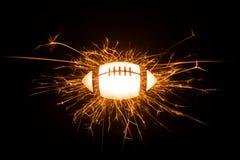 Futebol americano Sparkly Fotos de Stock Royalty Free