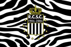 Futebol belga ostentando real Les Zebres do clube de Charleroi Foto de Stock Royalty Free