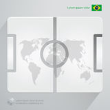 Futebol Brasil Infographic Foto de Stock