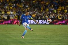 Futebol brasileiro Dani Alves durante Copa América Centenario Imagem de Stock Royalty Free