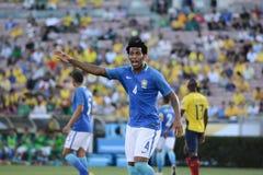 Futebol brasileiro de Gilberto Silva durante Copa América Centenario Fotografia de Stock Royalty Free