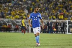 Futebol brasileiro Lucas durante Copa América Centenario Imagem de Stock Royalty Free