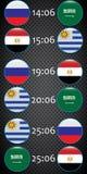 Futebol championship Bandeiras do vetor agrupe A ilustração stock