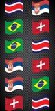 Futebol championship Bandeiras do vetor grupo E ilustração do vetor